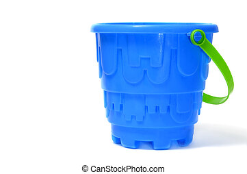 castle bucket - a blue castle bucket isolated on a white...