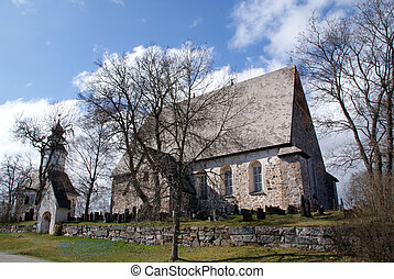 Sauvo Church, Finland - Sauvo Church is a medieval greystone...