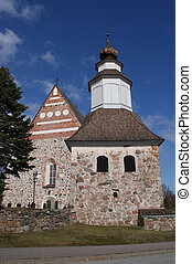 Sauvo Church and Belltower, Finland - The medieval belltower...