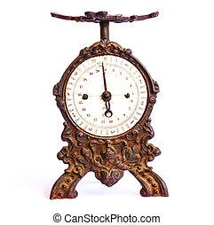 antiguo, balance, de, 1800,