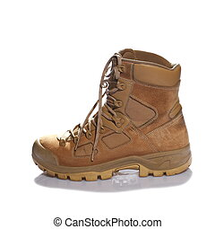 Combat boot isolated on white - Combat boot single viewed...