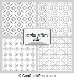 The complex geometric pattern. Seamless pattern of thin...