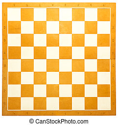 Chess board - Wooden chess board in orange and white