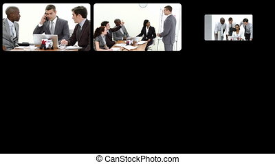 Stock animation presenting the concept of teamwork in HD