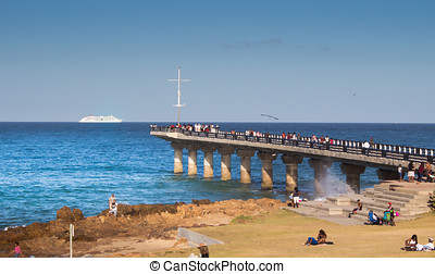 Late afternoon at the Humewood Pier Port Elizabeth South Africa