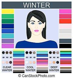 Stock vector set of three winter