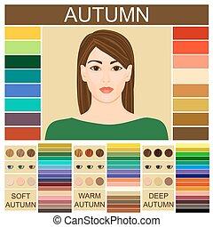 Stock vector set of three autumn