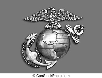 Marine Eagle ,Globe and Anchor. - Marine eagle,globe and...