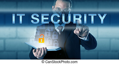 Business Manager Pushing IT SECURITY - Business manager is...