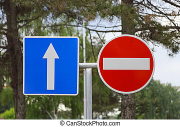Traffic Signs - Do Not Enter and Arrow Traffic Signs