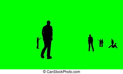 Animation of silhouettes talking to