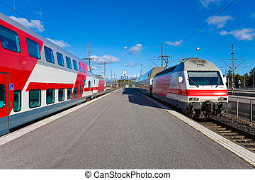 Passenger trains in Helsinki