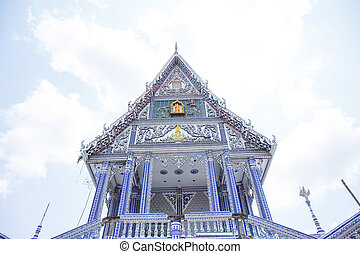 beautiful Buddhist church with sky in Chantaburi, Thailand