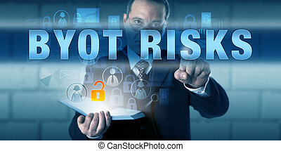 Business Director Pressing BYOT RISKS - Business director is...