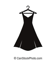 Black dress on hanger