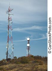 Transmitter - Communication transmitter tower on the hill...