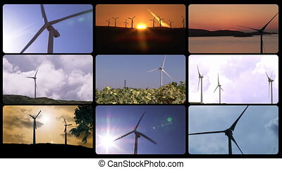 3D animation presenting the wind power in HD
