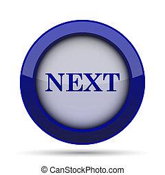 Next icon Internet button on white background