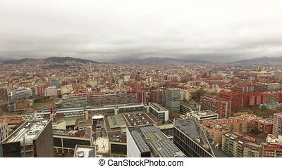 Barcelona Aerial Drone Skyline - Aerial drone footage from...