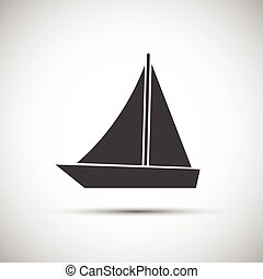 Simple vector illustration of sailboat