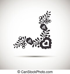 Traditional folk patterns, vector illustration of simple folk symbol