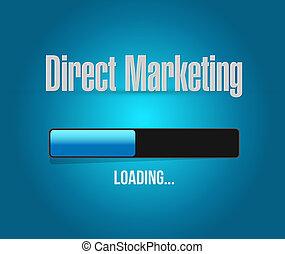 concepto, barra, mercadotecnia, directo, señal, carga