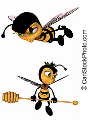 Toon Bee - 3D Render of an Toon Bee