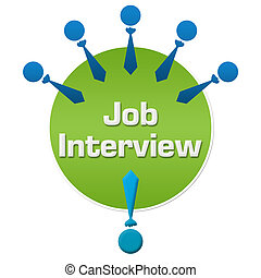 Job Interview Human Icons Circular - Job interview concept...