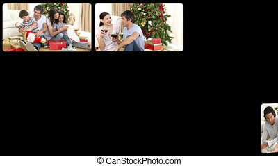3D animation of families during Christmas in HD