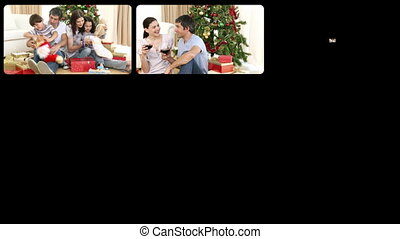 Montage showing Christmas celebrati - Montage presenting...