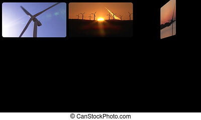 3D montage the wind power in HD