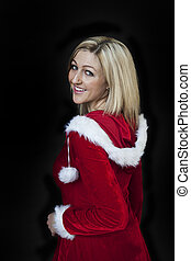 Ms Claus - Photo of a very attractive blonde in a Santa...