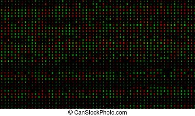 red and green light array background