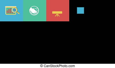 Business and Startup Flat Icons Set. 4K.