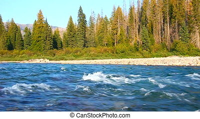 River Scene Glacier National Park - Beautiful North Fork...