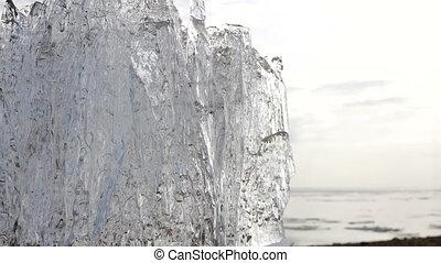 4k Time-lapse Ice melting. Global warming. - 4k Time-lapse...
