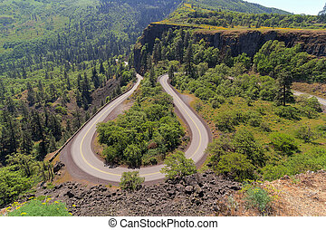 Old Columbia Highway at Rowena Crest