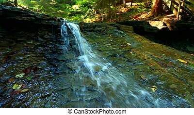 Shades State Park Silver Cascade - Silver Cascade Falls is...