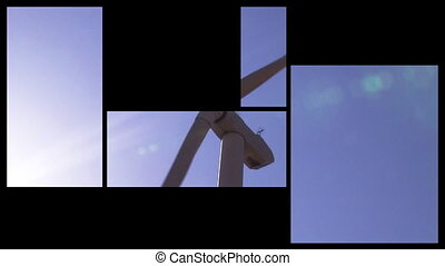 3D montage showing wind turbines in HD