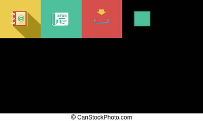 Internet and Web Flat Icons Set 4K - Internet and Web...