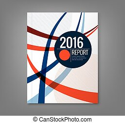 Abstract curved line design background for business annual...