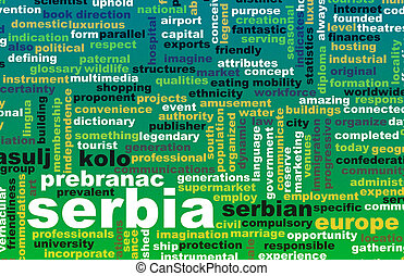 Serbia as a Country Abstract Art Concept
