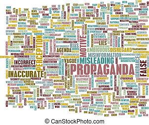Propaganda as a Message Concept Abstract Art