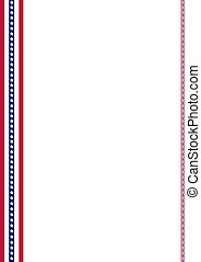 American Flag decoration strips - Announcement page...