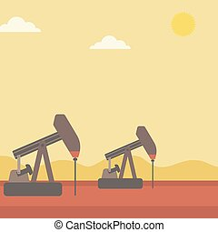 Background of oil derrick. - Background of oil derrick...