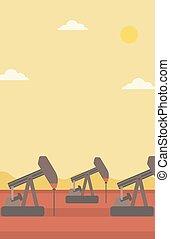 Background of oil derrick - Background of oil derrick vector...
