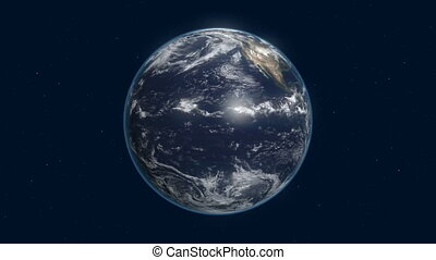 earth rotates in space 4k