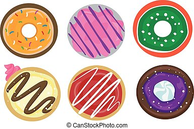 Set of Donuts - Vector Illustration of Set of Donuts
