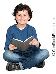 Student child with a book
