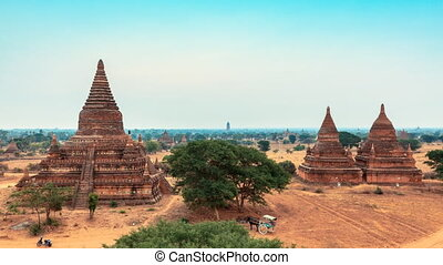 Bagan sunrise timelapse - sunrise timelapse shot in the...